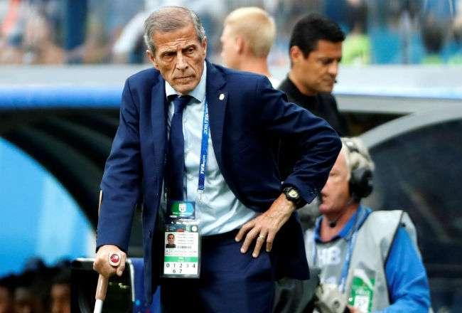 El técnico uruguayo Óscar Tabárez. Foto:EFE