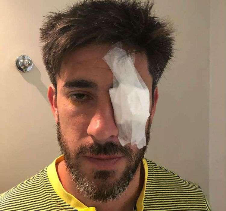 Pablo Pérez, jugador del Boca Juniors, afectado por los ataques del pasado sábado.