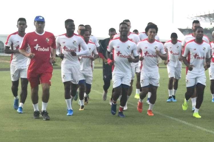 Entrenamiento de hoy martes de la selección de fútbol de Panamá. Foto: Fepafut