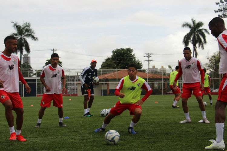 Entrenamiento de la Selección Mayor de Fútbol de Panamá. Foto: Fepafut