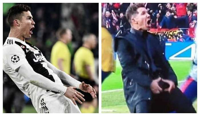 Cristiano Ronaldo y Diego Simeone, los gestos de la polémica./ Foto: Archivo