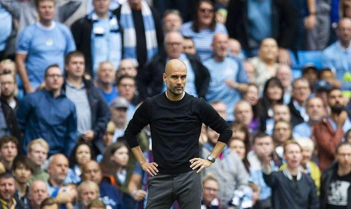 Pep Guardiola, técnico del Manchester City. / AP