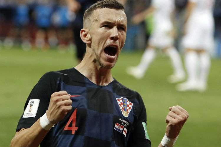 Ivan Perisic anotó uno de los goles de Croacia. Foto: AP