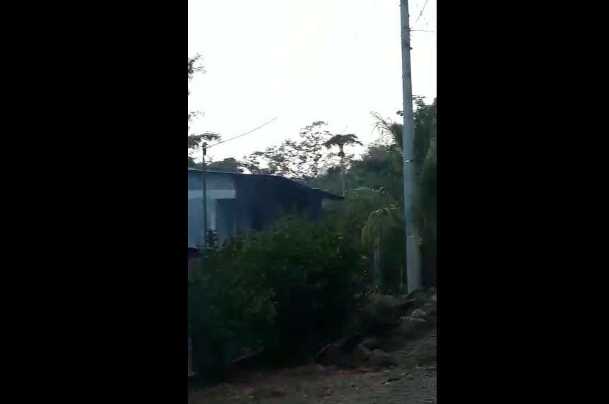 Vista general del lugar de la denuncia. Foto: WhatsApp