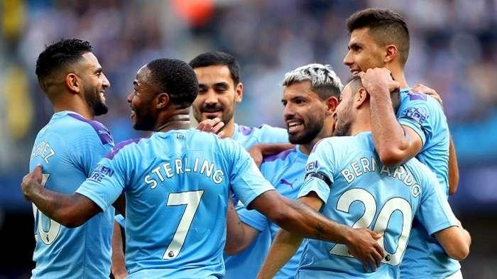 Jugadores del Manchester City. / EFE