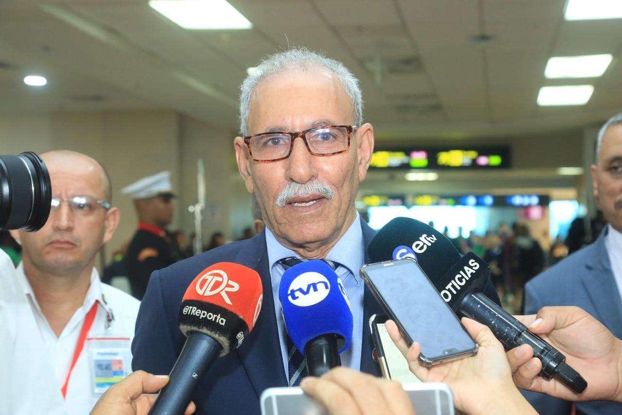 Presidente República Árabe Sahauri, Brahim Ghail.