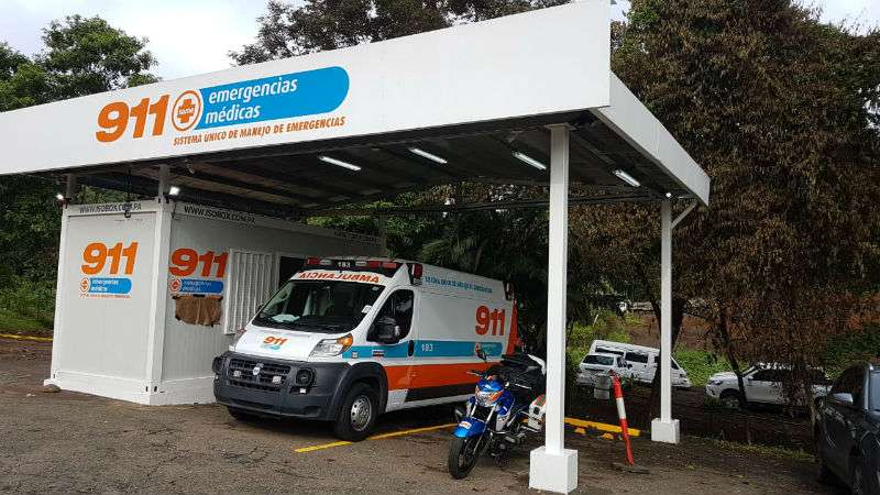 Punto de lanzamiento de ambulancia Panamá Pacífico. Foto: Sume 911