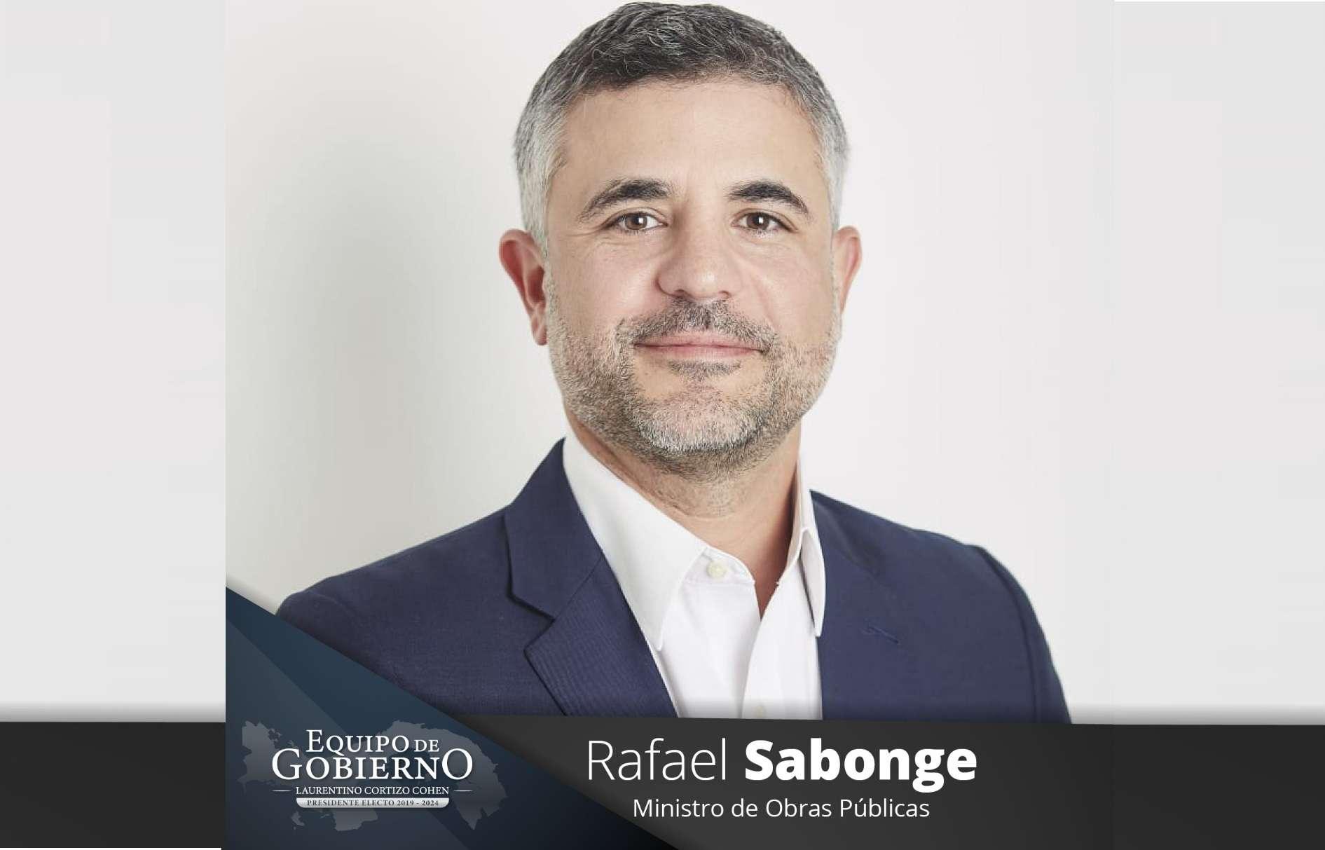 Rafael Sabonge, Ministro de Obras Públicas.