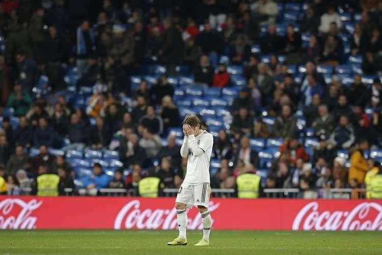 Luka Modric, tras el partido perder el partido ante el Real Sociedad. Foto: EFE