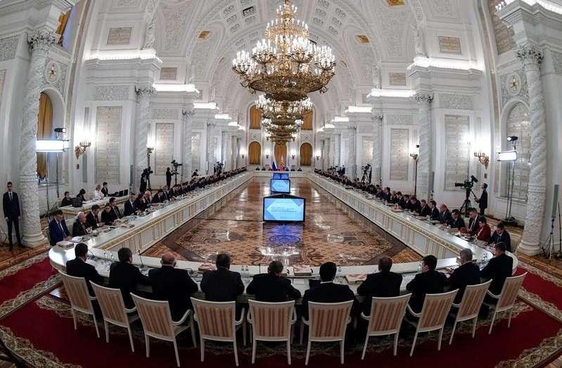 Vista general de una reunión del Consejo de Estado, presidida por el presidente ruso, Vladímir Putin, en el Kremlin, en Moscú. EFEArchivo