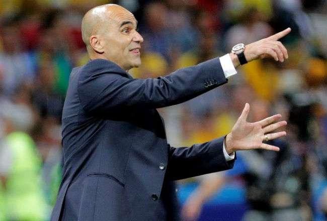 El seleccionador de Bélgica, el español Roberto Martínez. Foto:EFE