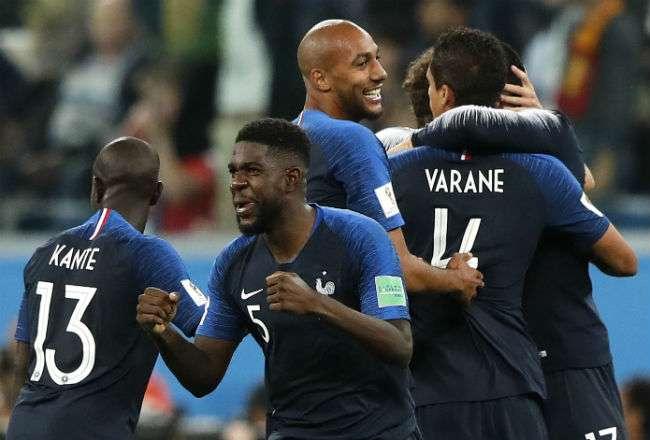 El jugador Samuel Umtiti. Foto:AP