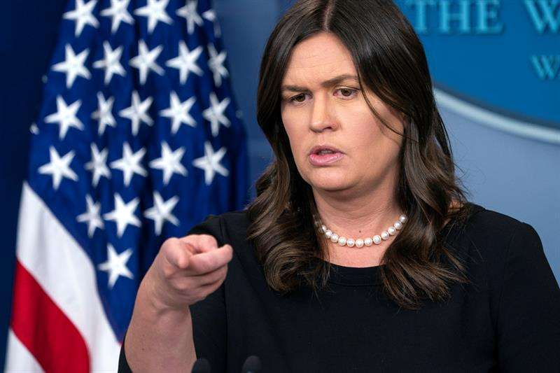En la imagen, la secretaria de prensa de la Casa Blanca, Sarah Sanders. EFEArchivo