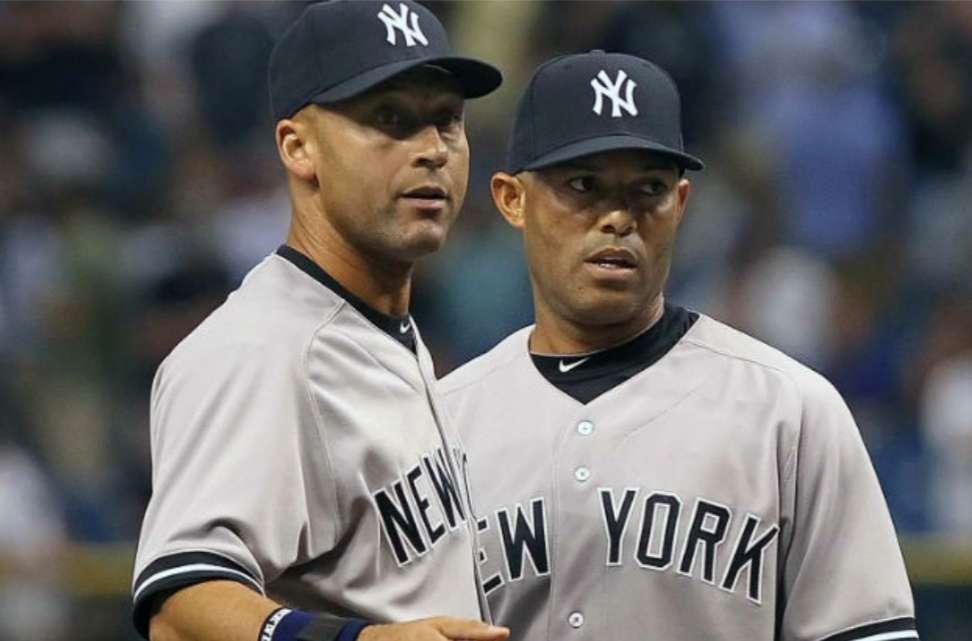 Derek Jeter junto a Mariano Rivera / AP