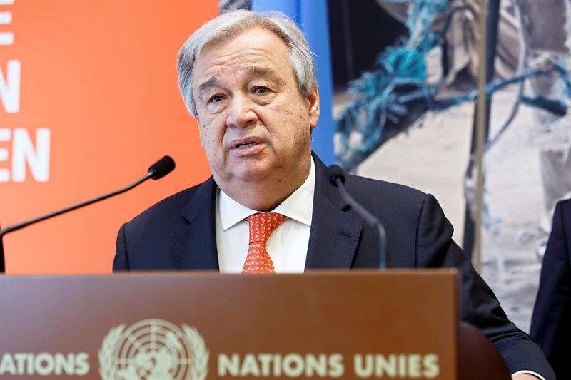 En la imagen, el secretario general de la ONU, António Guterres. EFEArchivo