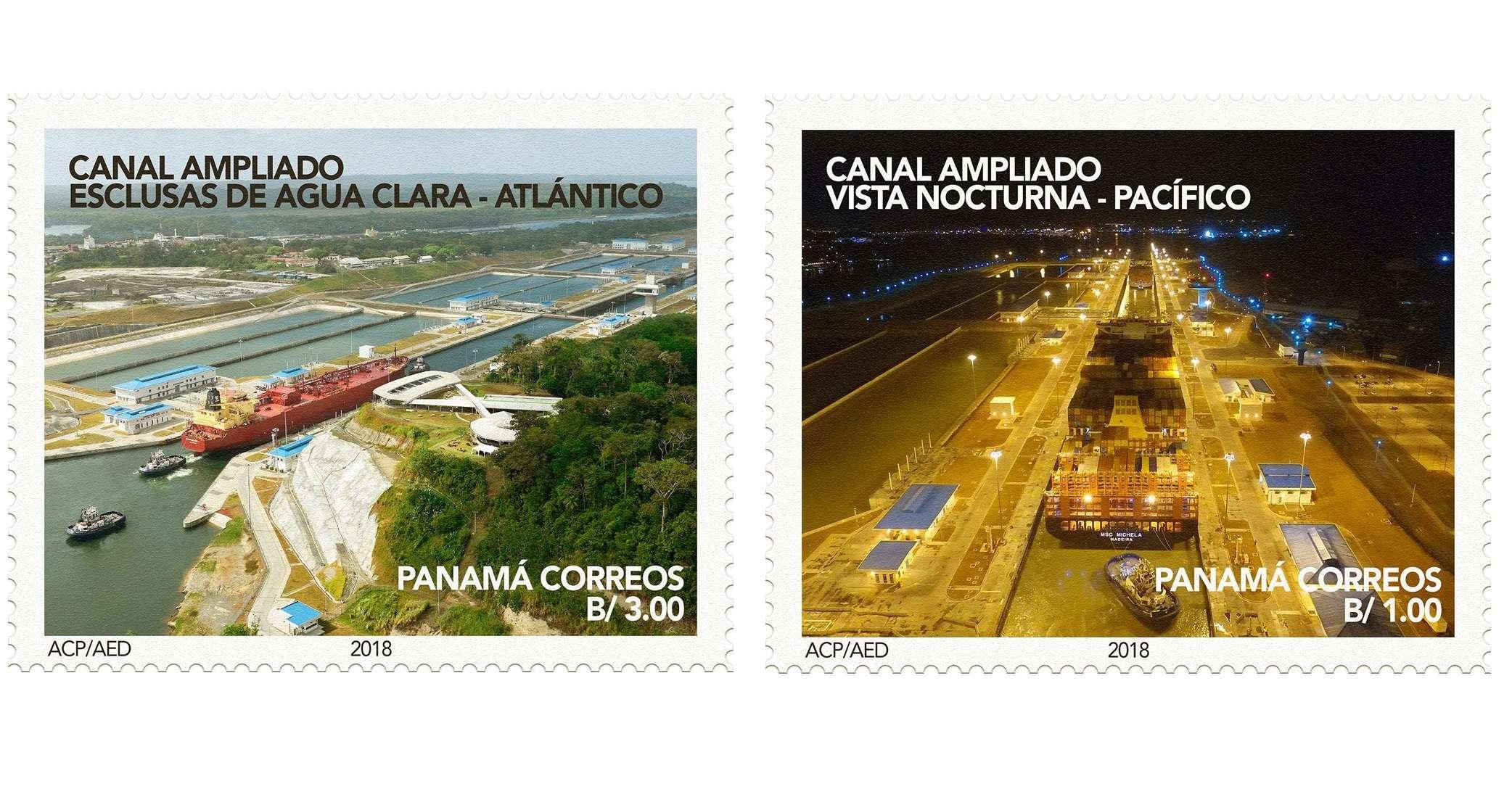 Emitirán un total de 120.000 sellos conmemorativos de la ampliación de la vía interoceánica. @canaldepanama