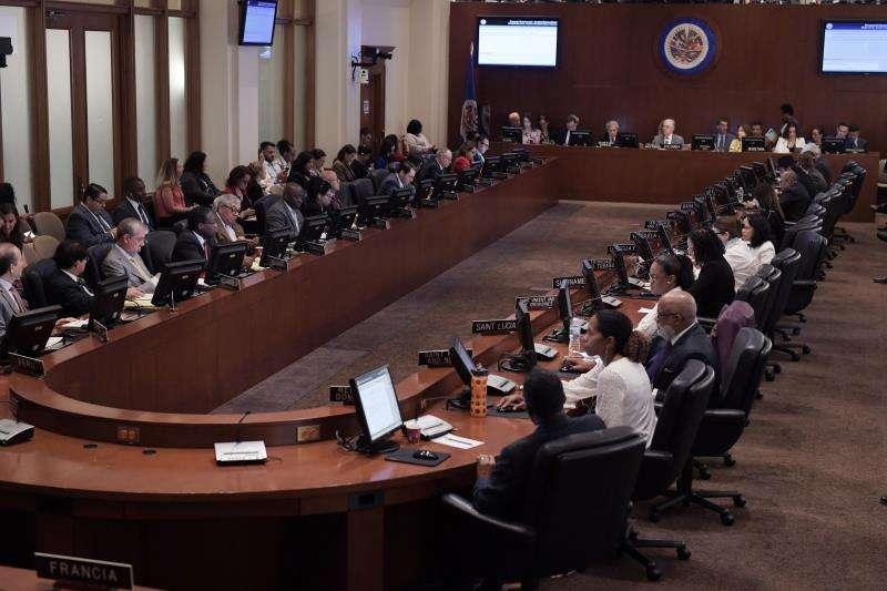 Vista general durante una sesión del Consejo Permanente de la OEA. EFE/Archivo