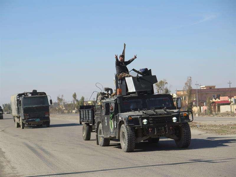 Soldados de un convoy de la unidad Diyala, de las Fuerzas de Operaciones Especiales. EFEArchivo