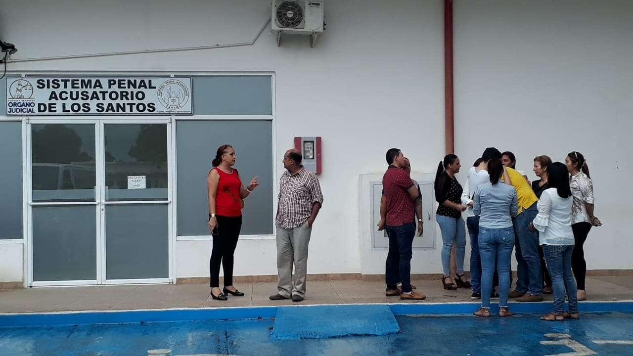 Audiencia realizada en el Sistema Penal Acusatorio de Las Tablas. Foto: Thays Domínguez