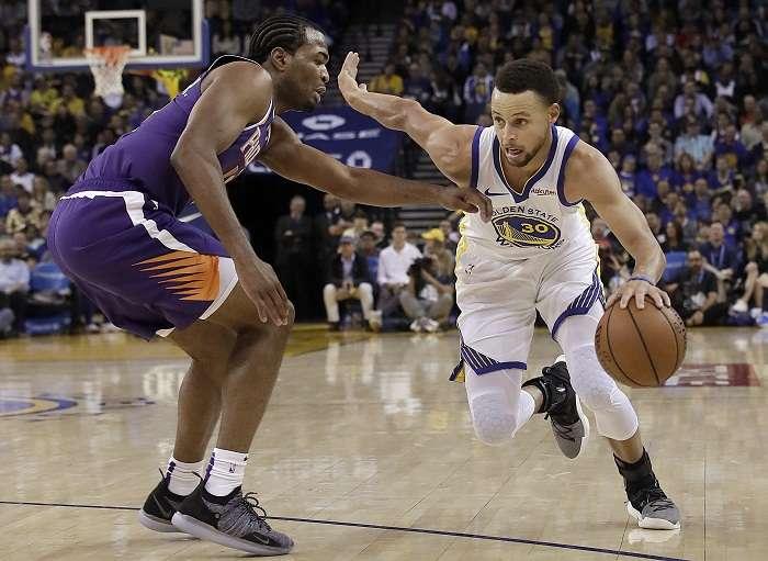 Stephen Curry encabezó el ataque balanceado de los Warriors de Golden State. Foto: AP