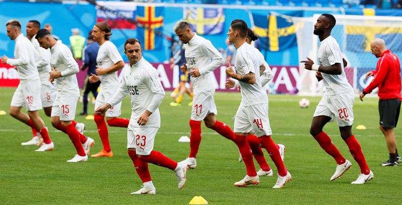 La selección de Suiza está lista para afrontar el compromiso ante Suecia. Foto EFE