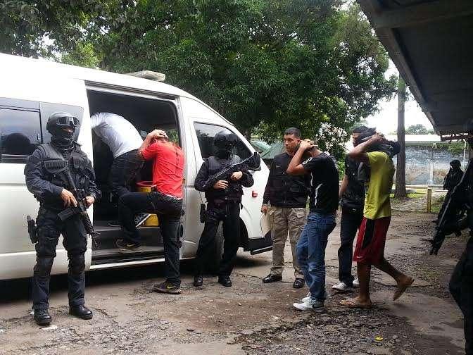 Aprehendidos durante operativos en busca de droga en Chiriquí. Foto: Mayra Madrid