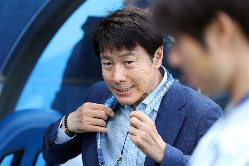 El seleccionador de Corea del Sur, Shin Tae-Yong. Foto EFE