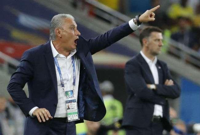 El entrenador de la selección de Brasil. Foto:EFE