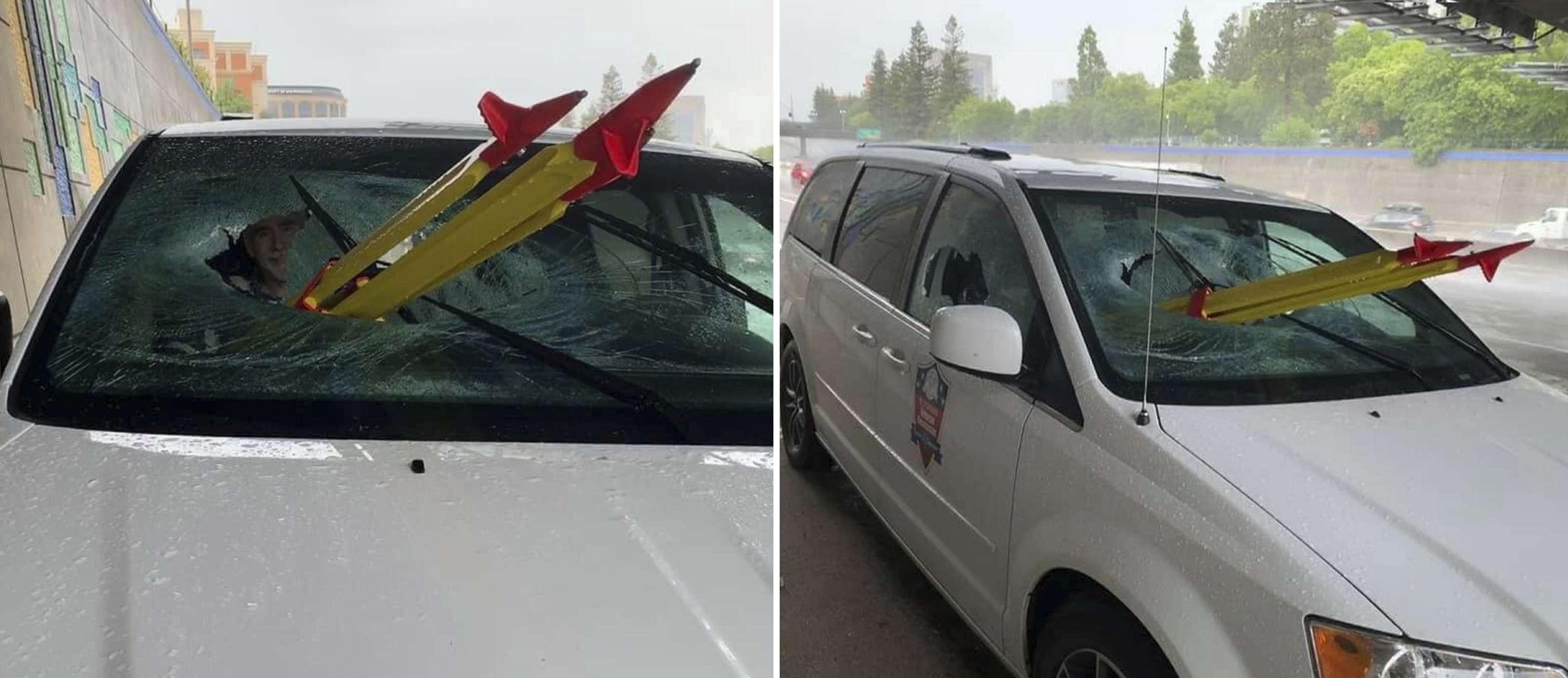 El pasajero sobrevivió pero con costillas rotas y un pulmón parcialmente perforado. AP