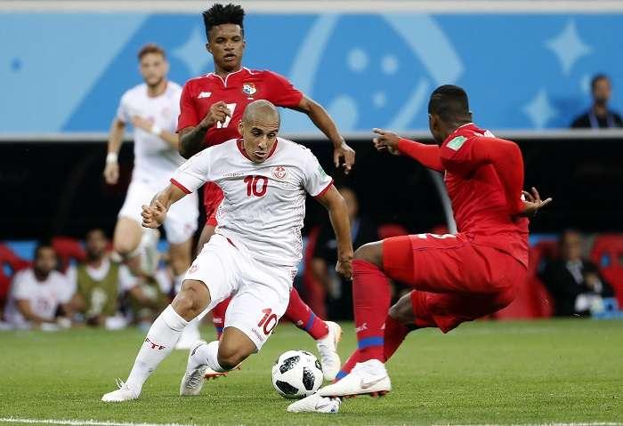 Wahbi Khazri anotó el gol del triunfo de la selección de Túnez. Foto EFE