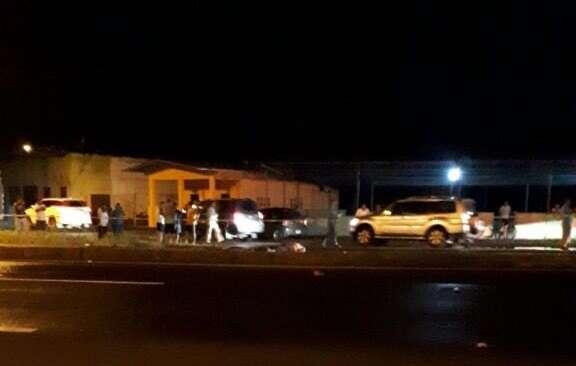 Vista general del área en donde ocurrió el accidente en San Lorenzo.  Foto: @TraficoCPanama