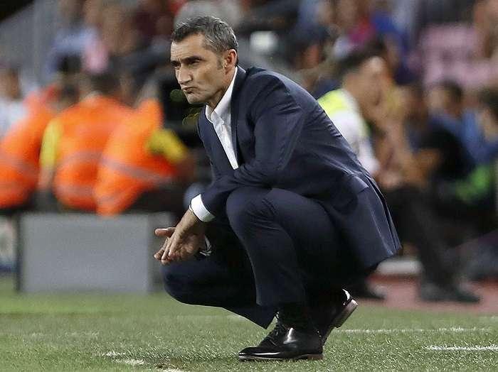 Ernesto Valverde, técnico del Barcelona. /EFE