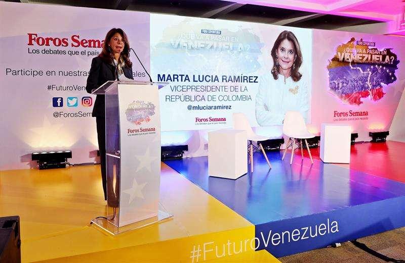 La vicepresidenta de Colombia, Marta Lucía Ramirez. EFE