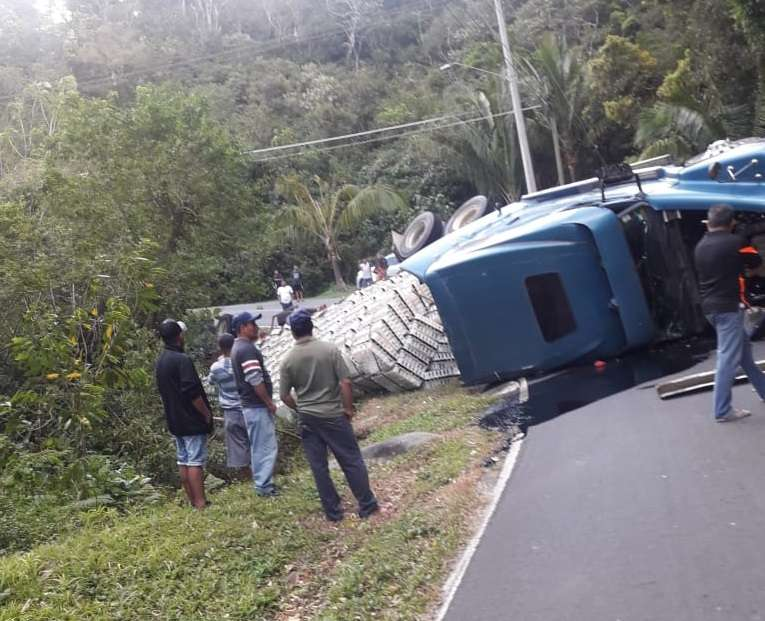 Vistas del accidente. Foto: @TraficoCPanama