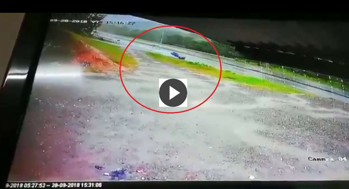 Capturta de video accidente en Viguí.