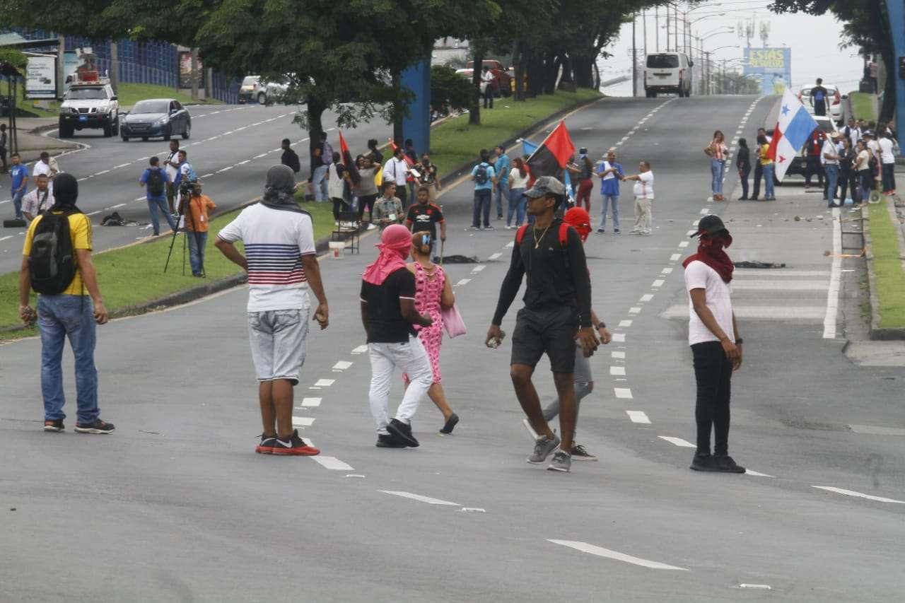 Protesta en la Transístmica Foto Edwards Santos