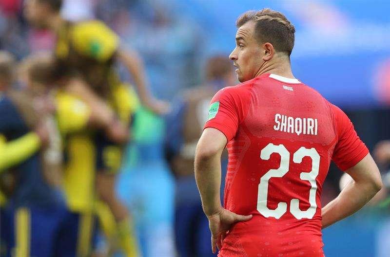 """El centrocampista suizo dijo estar """"muy orgulloso"""" del equipo aunque """"decepcionado"""" por la derrota. Foto EFE"""