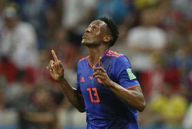 El jugador coolombiano Yerry Mina. Foto: EFE