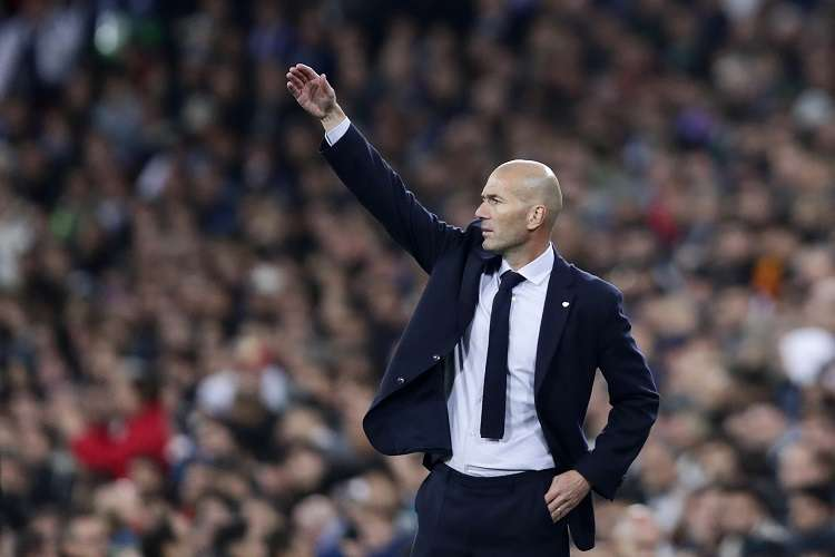 El francés Zinedine Zidane, técnico del Real Madrid. Foto: AP