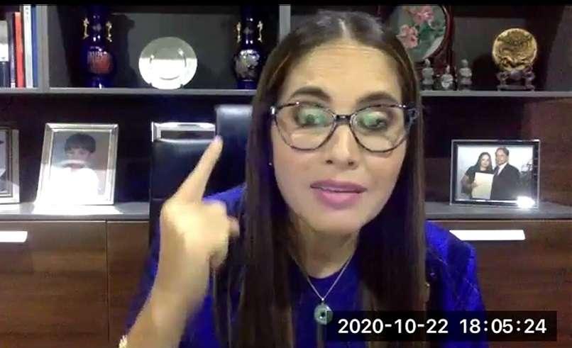 Diputada del PRD, Zulay Rodriguez.