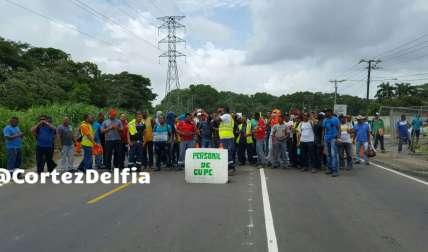 Los protestantes alegan que GUPC no ha respetado y no han dado el preaviso a pesar de que han solicitado a la empresa esa información.  / Foto: Delfia Cortez