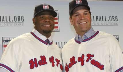 Griffey Jr. (izq.) y Piazza Foto: AP