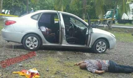 Vehículo en el cual se perpetró el homicidio.  Foto Archivo