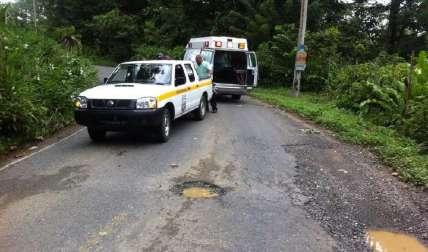 El accidente ocurrió la tarde del viernes en este lugar. Es la décima víctima fatal en Bocas el Toro, por accidentes de tránsito. Foto Leonardo Machuca Corresponsal