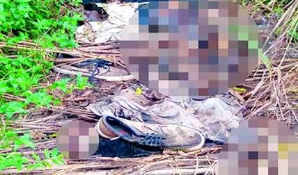 Así fueron encontrados los restos humanos en Pacora.  Foto Edwards Santos Crítica