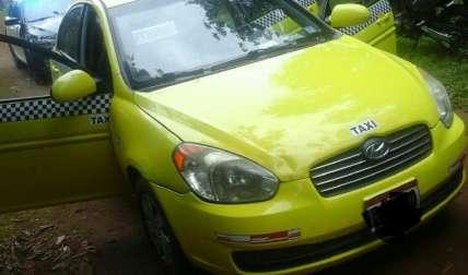 El taxi involucrado en el delito. Foto José Vásquez Corresponsal