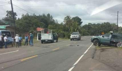 Escena del accidente.  Foto Tomada de @LaVozDeVeraguas