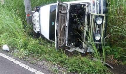 Así quedó el vehículo. Se investiga. Foto Delfia Cortez Corresponsal