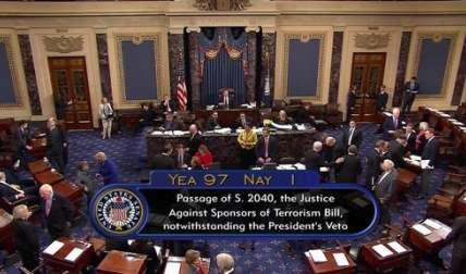 La votación en el Senado fue de 97-1. Horas antes la cámara baja había votado 348-77. /  Foto: AP