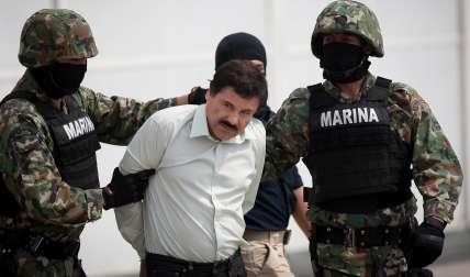 Imagen de archivo del momento de la captura del 'Chapo' Guzmán.